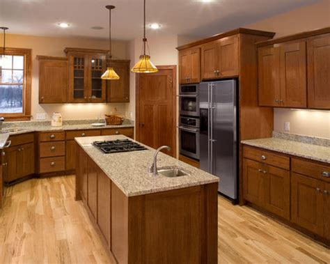 kitchen flooring ideas with oak cabinets best oak kitchen cabinets design ideas remodel pictures