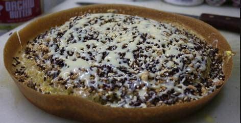 resep martabak coklat keju  kue terang bulan coklat keju
