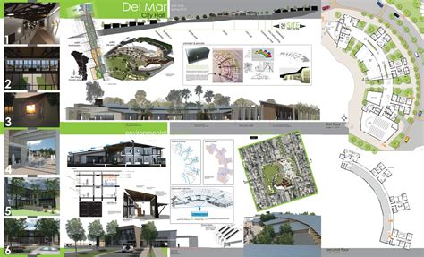 layout presentation board del mar proposed city plan architecture plans