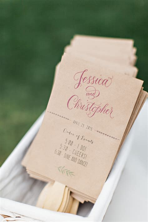 Handmade Wedding Programs - diy wedding program fans handmade and homegrown