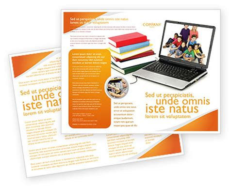 computer brochure templates computer study brochure template design and layout