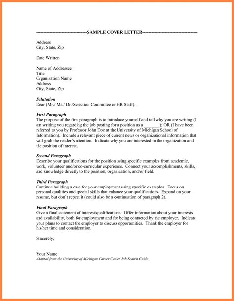 Cover Letter Format Address Unknown Cover Letter 5