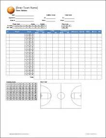 Soccer Stat Sheet Template by Basketball Team Roster Template For Excel