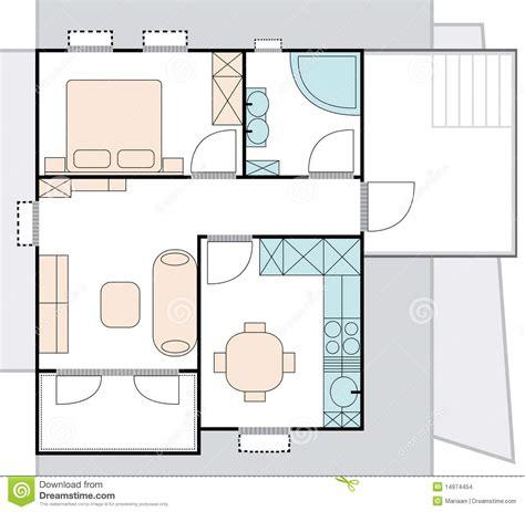 Modele De Maison Moderne 2791 by Planta Da Arquitetura Do Apartamento Imagens De Stock