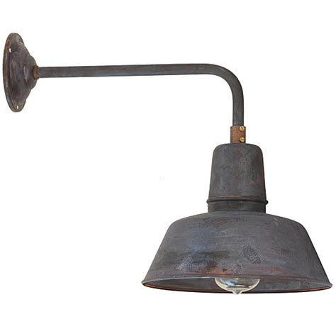 Industrial Style Outdoor Lighting Industrial Style Wall Light Berlin W130 Copper Patina Terra Lumi