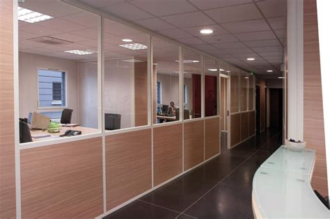 stores bureau cloison de bureau amovible vitree semi vitree pleine