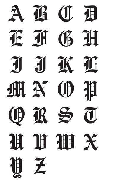 tattoo fonts generator old english cursive fonts images for tatouage
