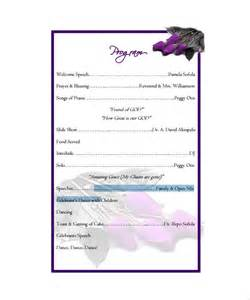 free program template sle program templates wedding event program word