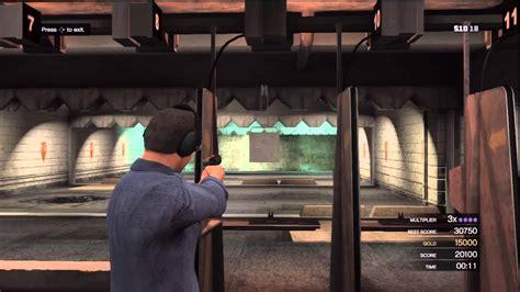 gta  shooting range pistol challenge  score