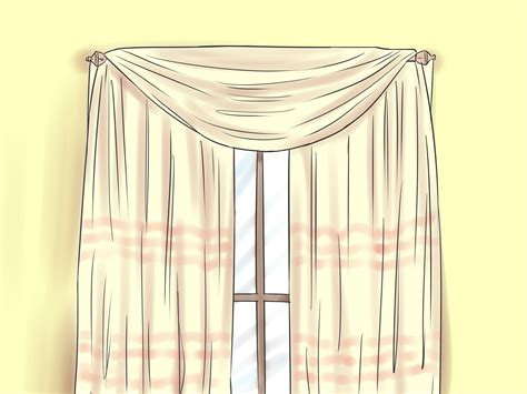 how to drape a scarf valance how to drape window scarves 5 steps with pictures wikihow