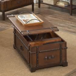 Trunk Coffee Table Steamer Trunk Lift Top Coffee Table 38703 Latitudes Riverside Outlet Discount Furniture