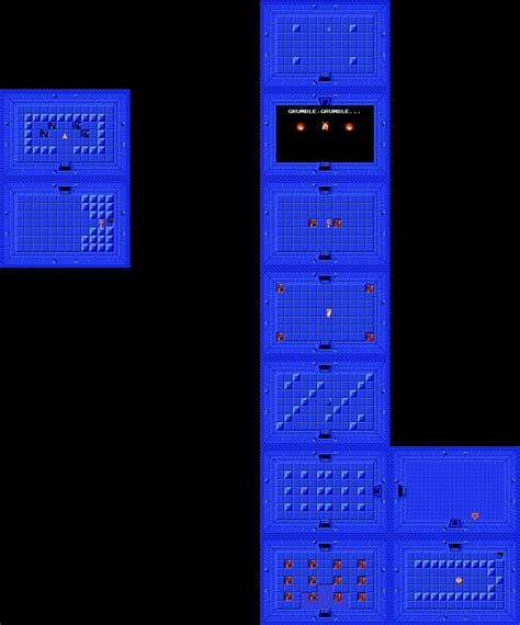 dungeon two map second quest the legend of zelda wiki the legend of zelda dungeon maps