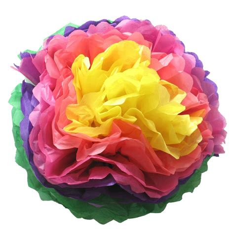 How To Make Mexican Paper Flowers With Tissue Paper - how to make tissue paper pom poms flowers shindigs au