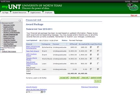 Financial Aid Award Letter Unt How To Check Your Scholarship Award Status Student Financial Aid And Scholarships