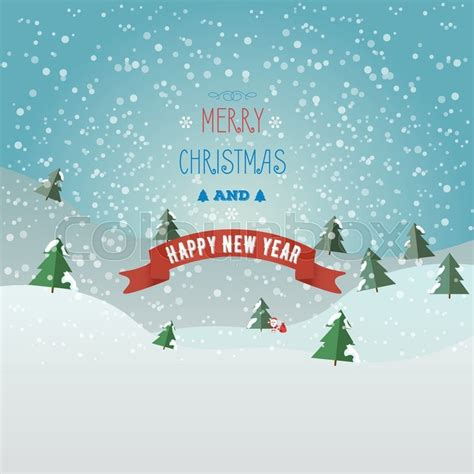 new year tires santa greeting card merry and happy new year with santa claus and bag with gifts