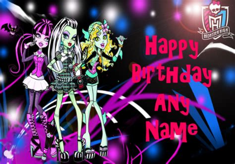 printable birthday cards monster high 6 best images of monster high printable birthday cards