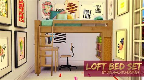 4 bunk bed loft bed set at dreamcatchersims4 187 sims 4 updates