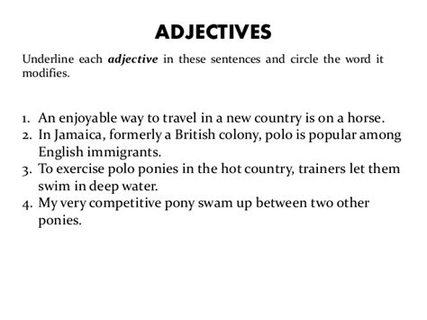 sentence pattern with adjectives what is a adjective in a sentence popflyboys