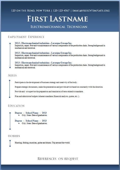 resume cv format download elegant awesome resume template free