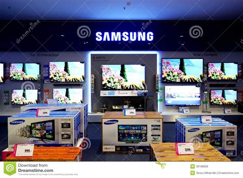 display tv samsung television smart tv editorial stock photo image