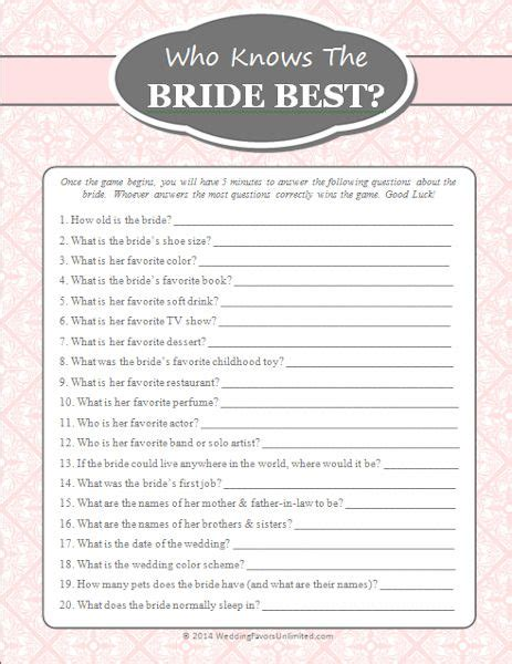 best bridal shower free free who knows the best bachlorette bridal extravaganza bridal