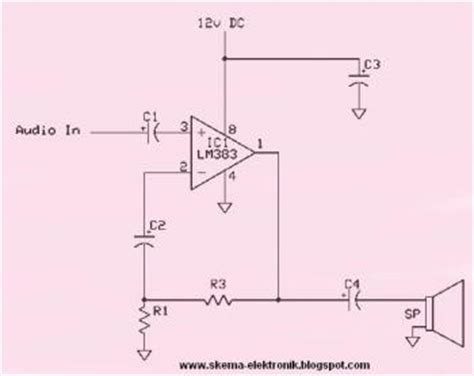 disc capacitor labeled diagram 8w lifier based on ic lm383 171 audio circuit