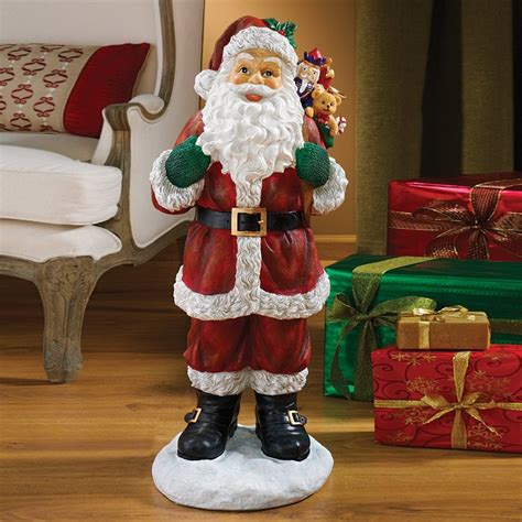 shop design toscano santa figurine at lowes com