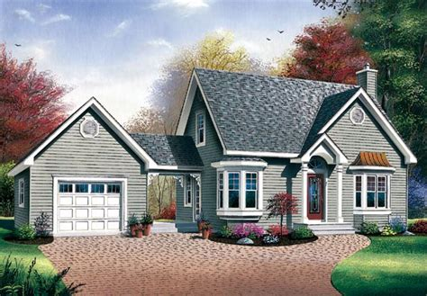cape cod house plans attached garage cottage house plans house plan 65285 at familyhomeplans com