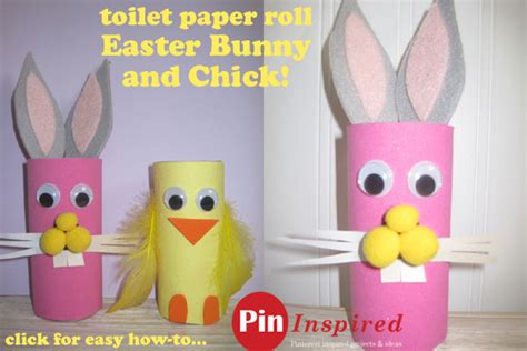 Easter Toilet Paper Roll Crafts - easter craft for toilet paper roll easter bunny