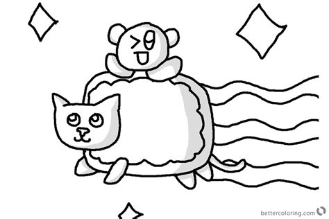 nyan cat coloring pages nyan cat coloring pages with baby nyan cat free