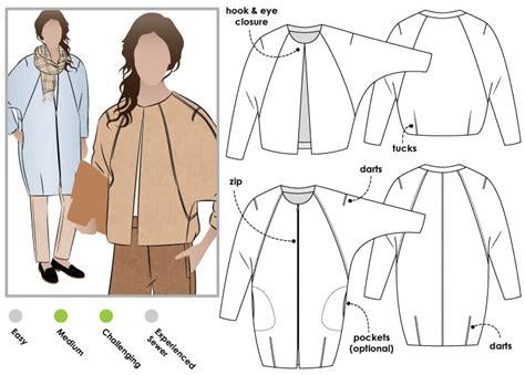 how to design a jacket pattern alegra jacket coat style arc