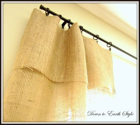 no sew burlap curtains down to earth style burlap window panels no sew no