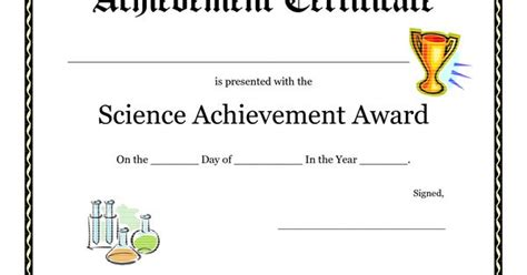 science award certificate template science fair award certificate template free printable