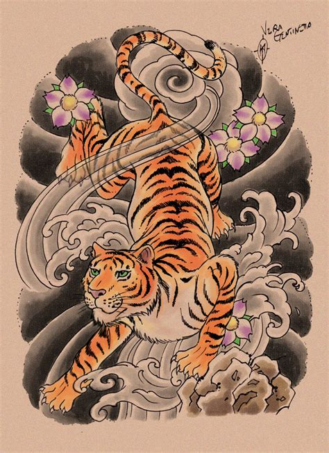 asian art tattoo designs japanese tiger drawing www pixshark images