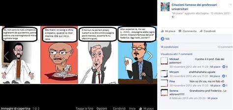 fb della una pagina fb con le citazioni dei docenti della federico