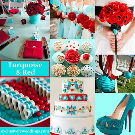 Theme: Red & Turquoise   Pretty Weddings