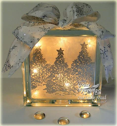 Th Ink Ing Of You A Glass Block Gift Idea Crafts Using Lights