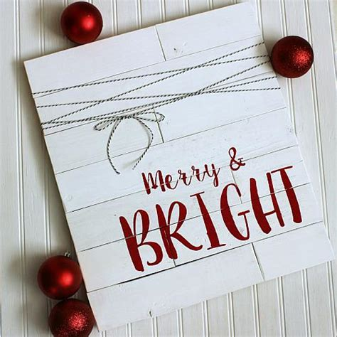 merry bright shiplap christmas sign project  decoart