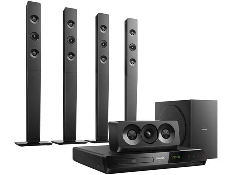 Home Theater Nuage 5 1 home theater philips c dvd 1000w rms 5 1 canais conex 227 o