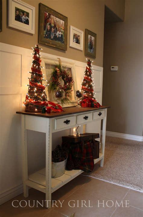 christmas decorating ideas  sofa table christmas