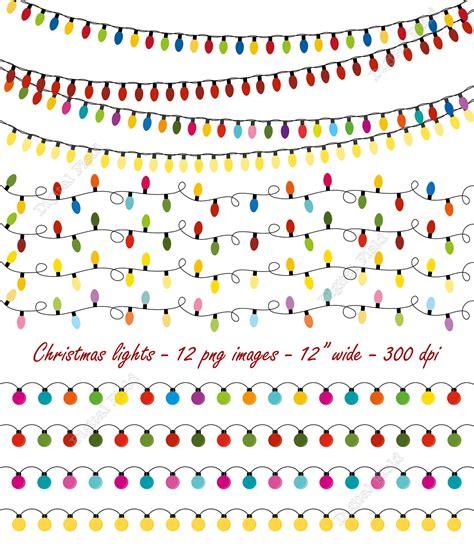 christmas lights clip art set string lights by digitalfield