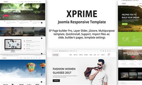 Xprime Multipurpose Joomla Template With Page Builder Page Builder Templates