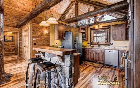 ski home prow log home floor plan  golden eagle log