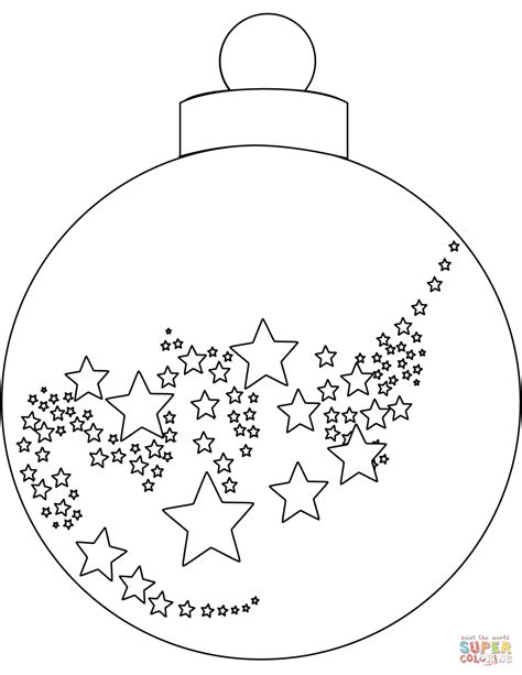 Christmas Ornament Coloring Page Free Printable Coloring Tree Coloring Page With Ornaments