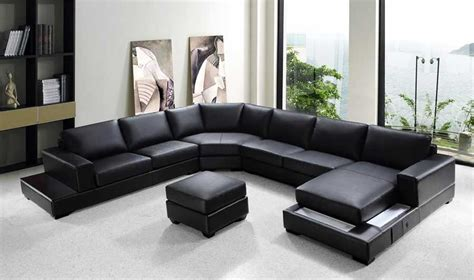 vg rz modern black sectional sofa sectionals