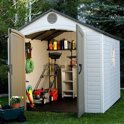 lifetime  ft    ft  plastic storage shed reviews wayfair