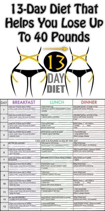 40 Day Diet Detox by 13 Day Diet That Helps You Lose Up To 40 Pounds Yes