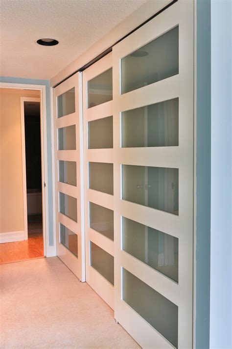 Modern Bedroom Closet Doors Sliding Closet Doors Bathroom Contemporary With Vaulted