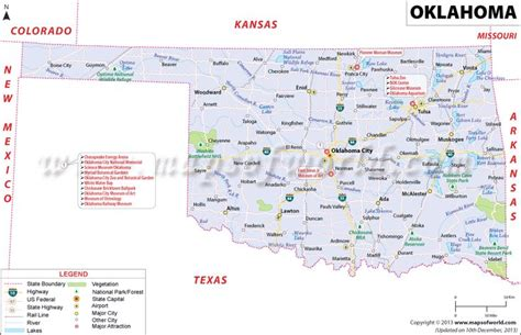 map of texas and oklahoma border oklahoma ok map oklahoma