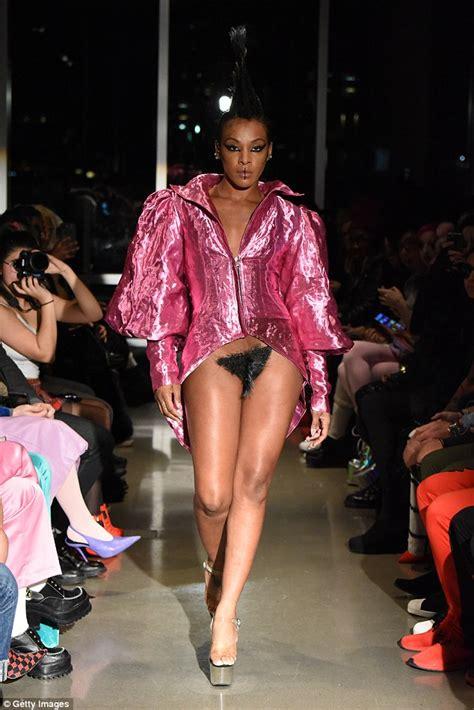 female vagina hair trend kaimin debuts vagina wigs on new york fashion week runway